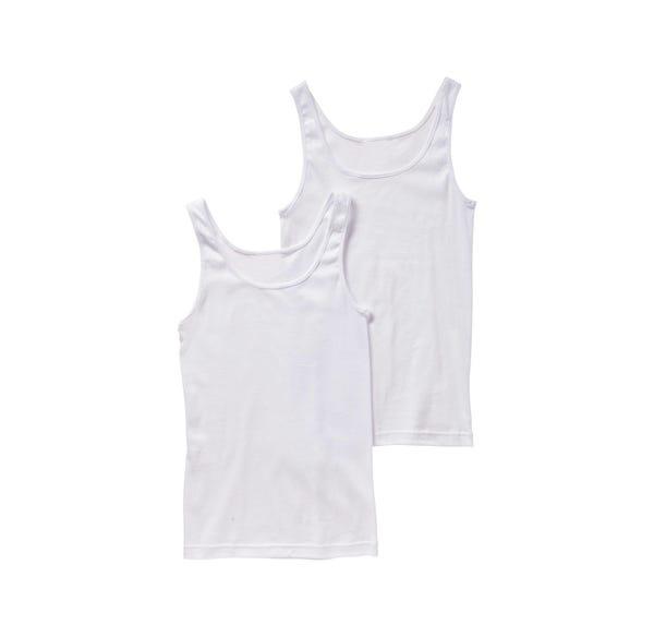 Damen-Unterhemd ohne Seitennähte, 2er Pack