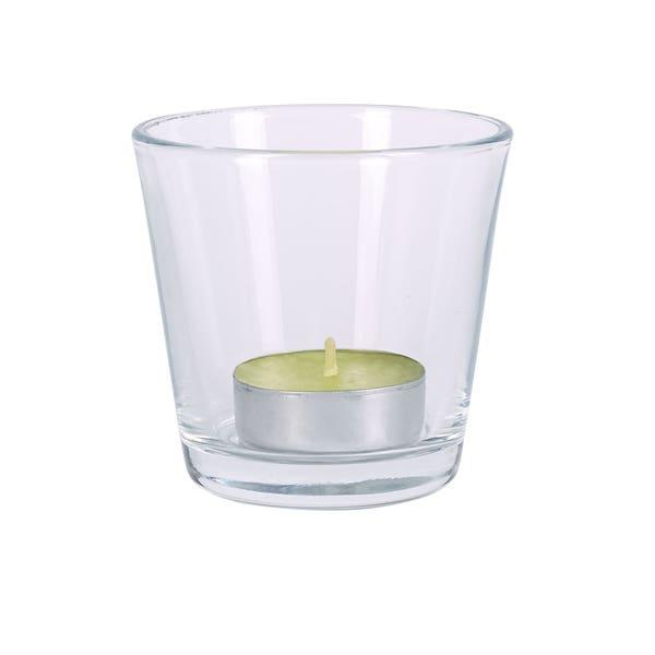 Teelicht-Halter aus Glas