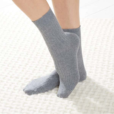 Unisex-Komfort-Socken mit Ripp-Struktur, 3er Pack