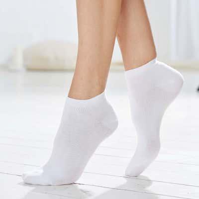 Unisex-Sneaker-Socken im einfarbigen Design, 3er Pack