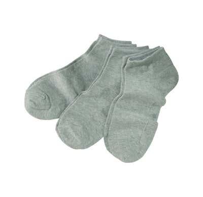 Unisex-Sneaker-Socken mit Baumwolle, 3er Pack