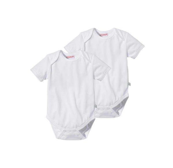 Baby-Body mit hohem Baumwoll-Anteil, 2er Pack