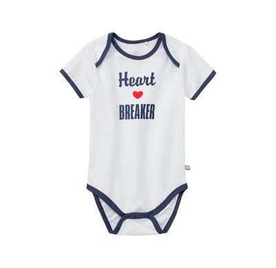 Baby-Jungen-Body mit überlappender Schulter