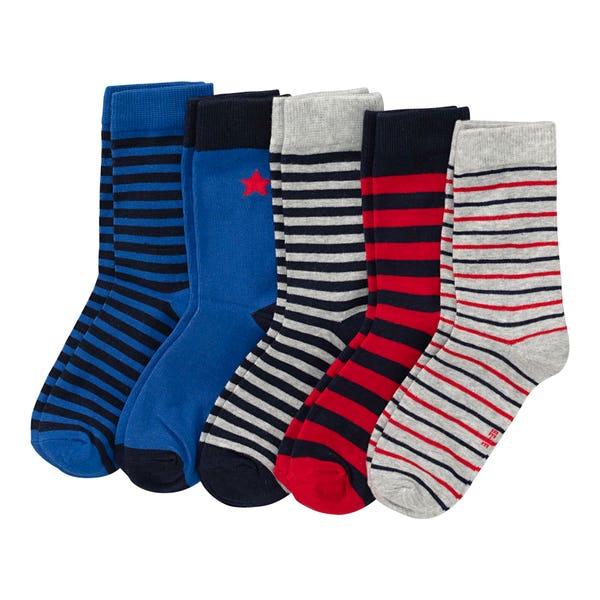 Jungen-Socken mit Baumwolle, 5er-Pack
