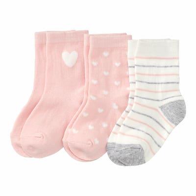 Baby-Mädchen-Socken mit Baumwolle, 3er-Pack