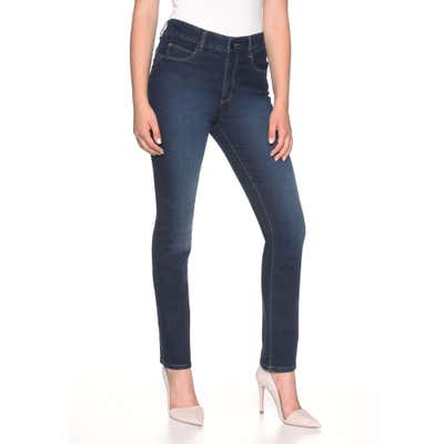 Damen-Stooker-Jeans mit High-Waist-Cut, große Größen