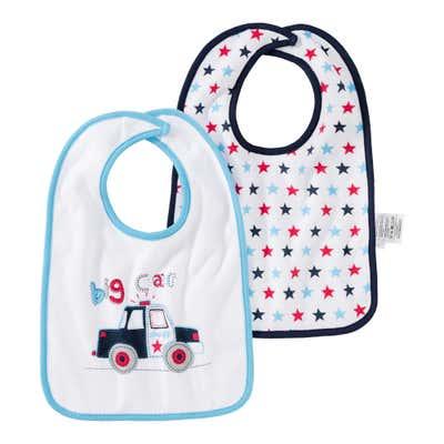 Baby-Jungen-Lätzchen, 2er Pack