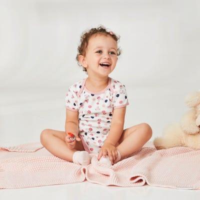 Baby-Mädchen-Body mit Tiermuster