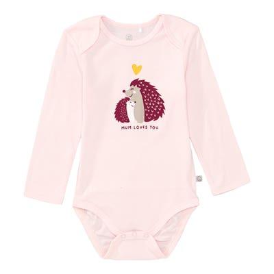Baby-Mädchen-Body mit Igel-Frontaufdruck