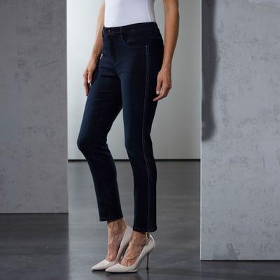 Damen-Stooker-Jeans Florenz mit Glitzerstreifen