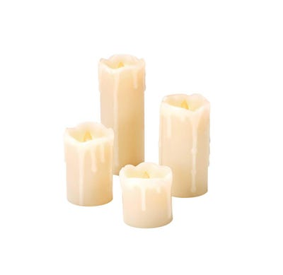 LED-Kerzen-Set, 4er Pack