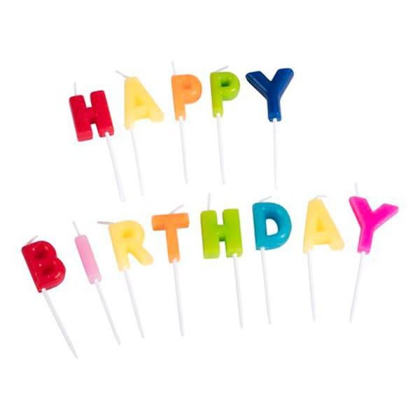 Happy-Birthday-Kerzen, 13-teilig