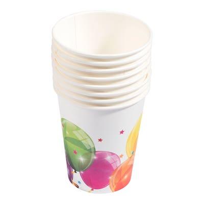 Papierbecher im Ballon-Design, 8er-Pack