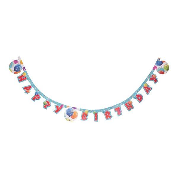 Geburtstags-Girlande mit Ballon-Design, ca. 2m