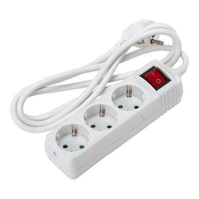 Dreifach-Steckdosenleiste mit Schalter