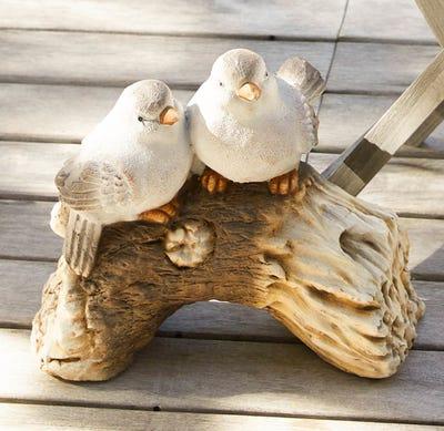 Deko-Keramik-Figur mit Vögeln, ca. 33x19x30cm