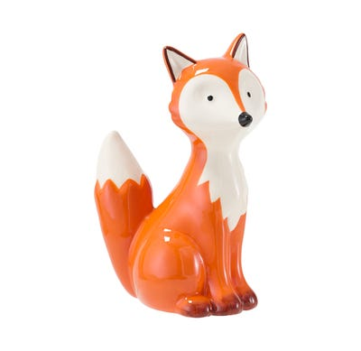 Keramik-Fuchs, sitzend, ca. 13x8x18cm
