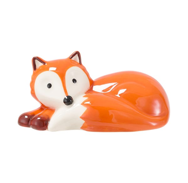 Keramik-Fuchs, liegend, ca. 10x6x4cm