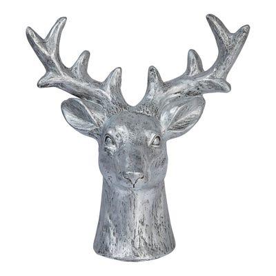 Deko-Hirschkopf aus Keramik, ca. 42x25x45cm