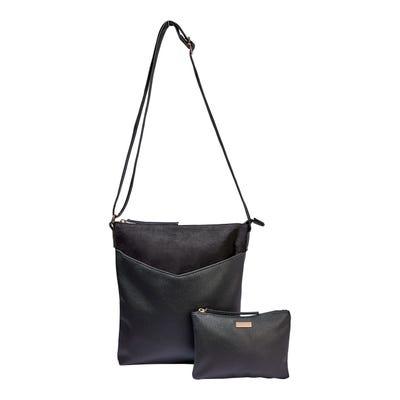 Handtaschen-Set in Leder-Optik, 2-teilig