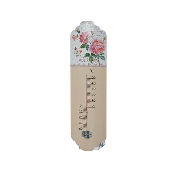 Thermometer mit Rosendesign, ca.10x2x31cm