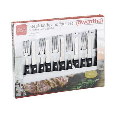 Löwenthal Steakmesser- und -gabel-Set, 12-teilig