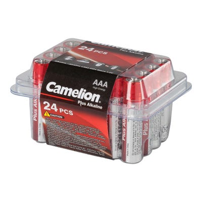 Camelion Batteriebox mit AAA-Batterien, 24er Pack