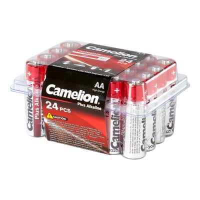 Camelion Batteriebox mit AA-Batterien, 24er Pack