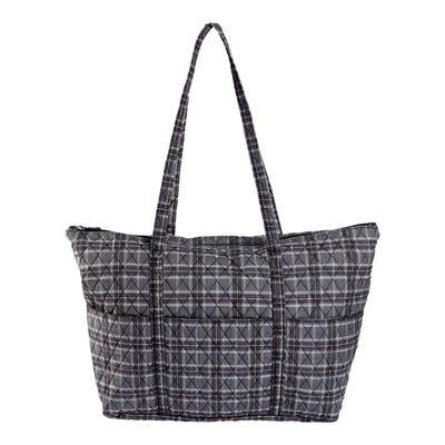 Damen-Handtasche mit Karomuster