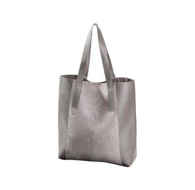 Damen-Handtasche in Wildleder-Optik, ca. 36x35x10cm