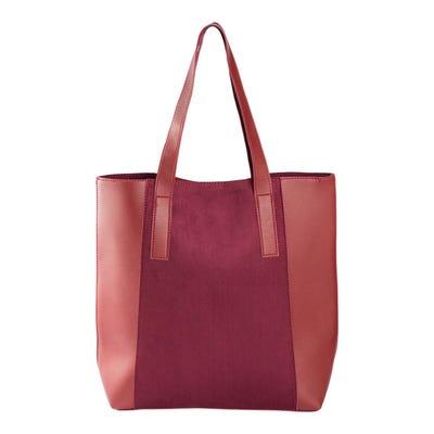 Damen-Handtasche mit Kunstleder-Einsätzen