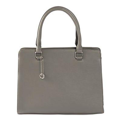 Damen-Handtasche mit Logo-Anhänger