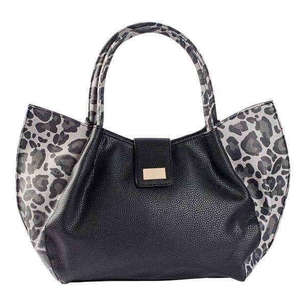Damen-Handtasche mit Leo-Muster