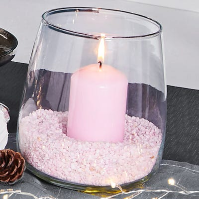 Vase aus klarem Glas, ca. 13x17cm