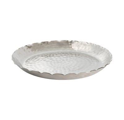 Platte aus gehämmerten Metall, ca. 40x4cm