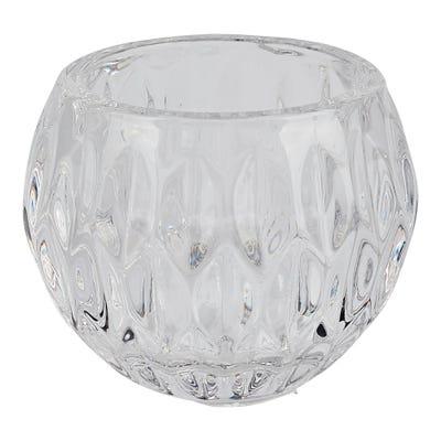 Kerzenhalter aus Glas, ca. 8x6cm