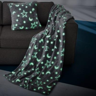 Kuscheldecke mit faszinierendem Leuchteffekt, ca. 150x200cm