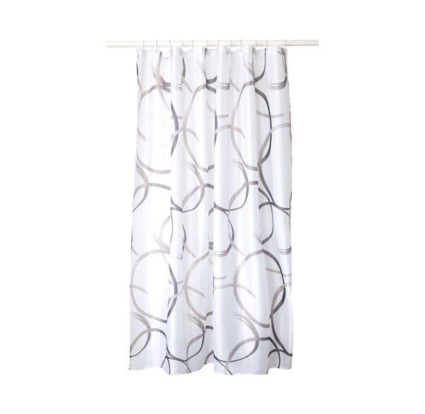 Duschvorhang in modernem Design, ca. 180x180cm