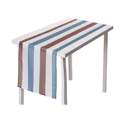 Tischläufer mit modernen Blockstreifen, ca. 40x140cm