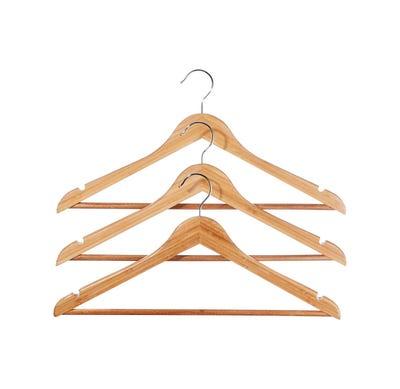 Kleiderbügel aus Bambus, ca. 45x23cm, 3er Pack