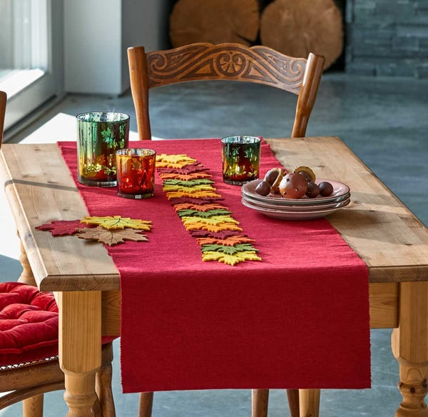 Tischläufer aus reiner Baumwolle, ca. 40x140cm