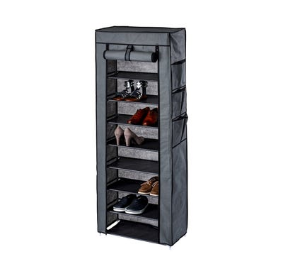 Schuhschrank mit Außentaschen, ca. 60x30x160cm