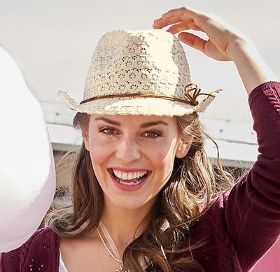 Damen-Hut in toller Wildleder-Optik