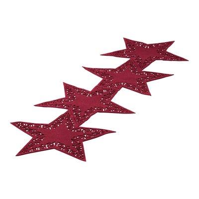 Filz-Tischläufer mit tollen Sternen, ca. 35x113cm