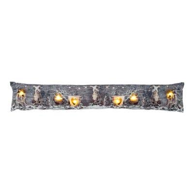LED-Zugluftstopper mit weihnachtlichem Motiv, ca. 85x15cm