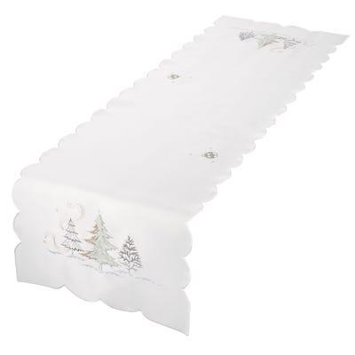 Tischläufer mit aufwendiger Stickerei, ca. 40x140cm