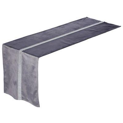 Tischläufer mit Glitzersteinen, ca. 40x140cm