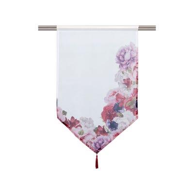 Kurzgardine mit Rosendesign, ca. 60x90cm
