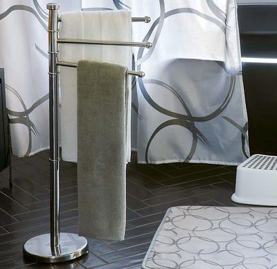 Stand-Handtuchhalter mit drehbaren Armen, ca. 22x86cm