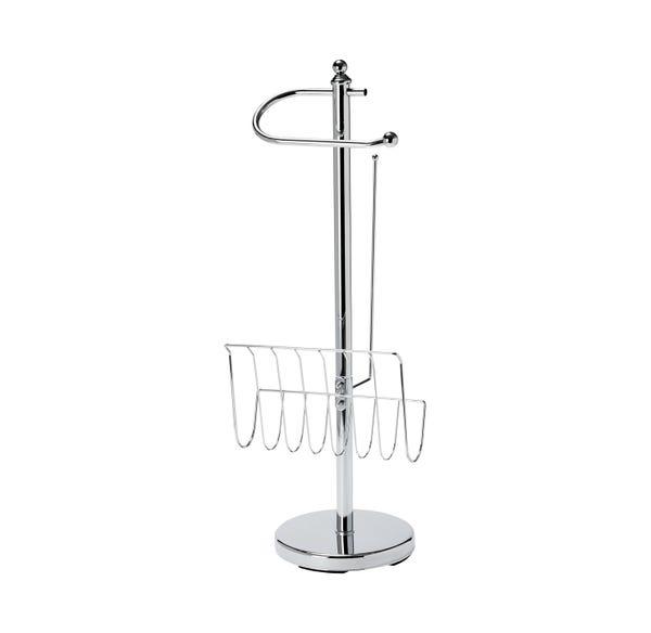 Stand-WC-Garnitur mit Zeitschrifthalter, ca. 20x24x65cm